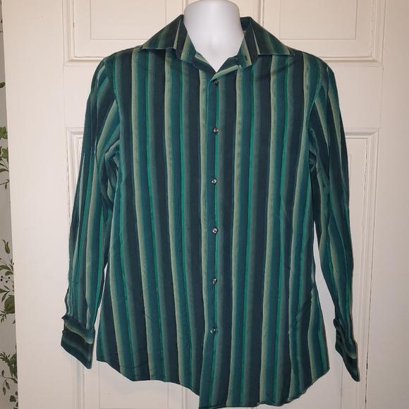 Banana Republic Striped Long Sleeve Shirt Men's M